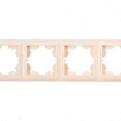 Рамка PRIMERA 4-я горизонтальная крем (3324)
