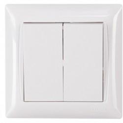 Выключатель двойной Luxel PRIMERA белый