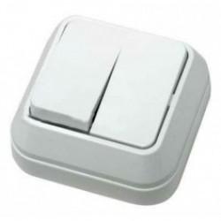 Выключатель Camelya 2-кл накладной белый ТМ 220